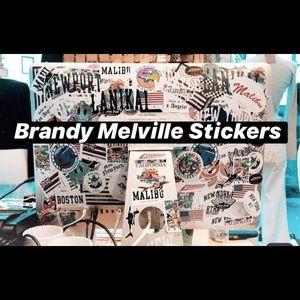 20 Brandy Melville Stickers!!🦋